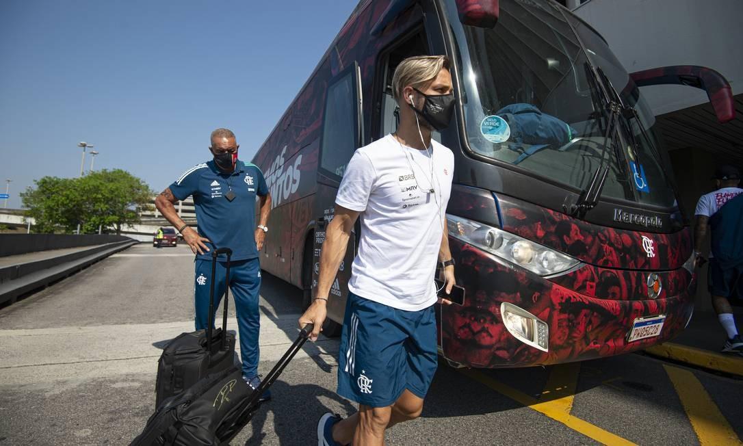 Diego Ribas, meia do Flamengo Foto: Alexandre Vidal/FLamengo
