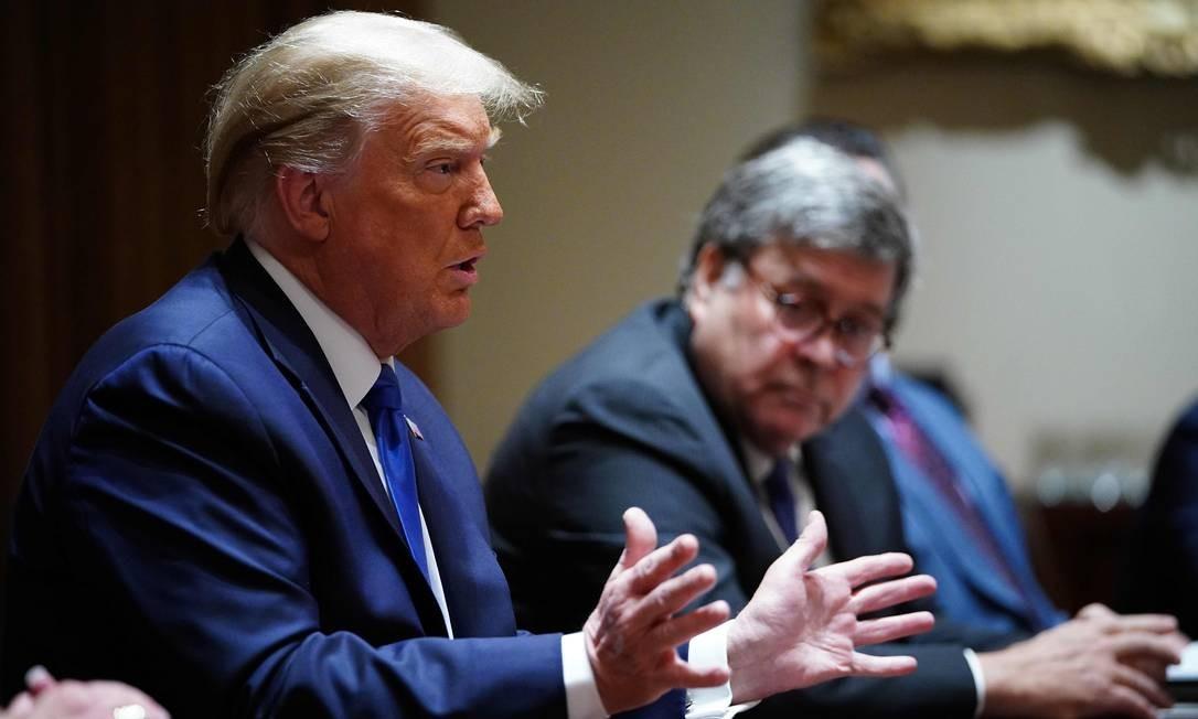 Presidente Donald Trump fala durante reunião na Casa Branca Foto: MANDEL NGAN / AFP/23-09-2020