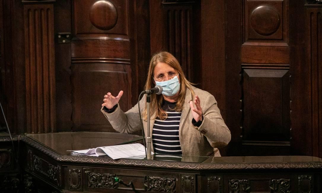 Lucinha, do PSDB. Deputada é coautora do pedido de impeachment Foto: BRENNO CARVALHO / Agência O Globo