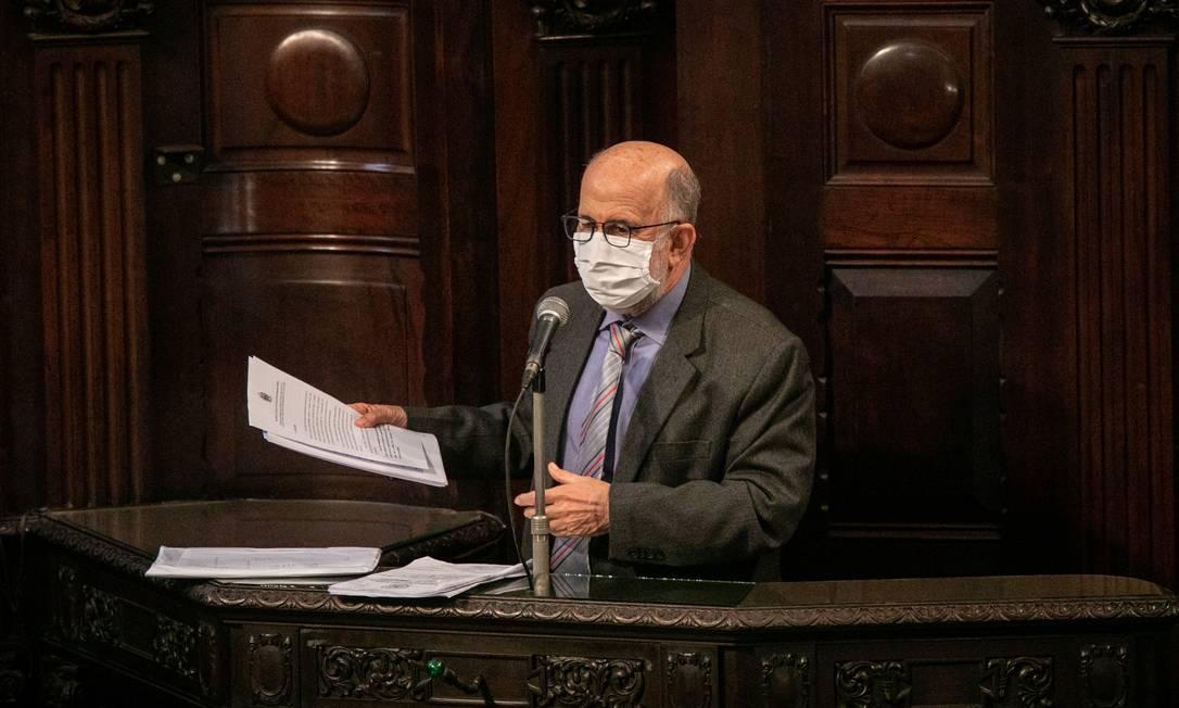 Luiz Paulo (PSDB), autor da denúncia que embasa o pedido de impeachment Foto: BRENNO CARVALHO / Agência O Globo