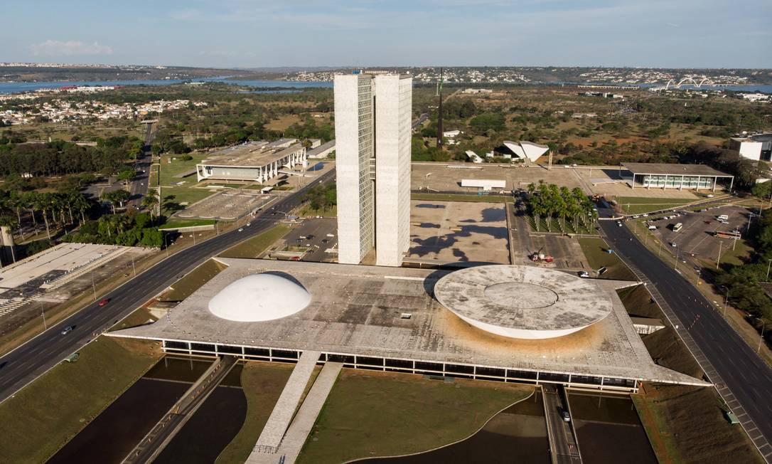 Praça dos Três Poderes, em Brasília Foto: Brenno Carvalho / Agência O Globo