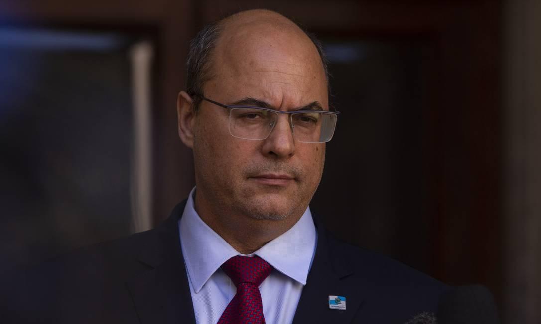 Wilson Witzel segue afastado do governo do Rio e passa por processo de impeachment Foto: Gabriel Monteiro - 28.08.2020 / O Globo