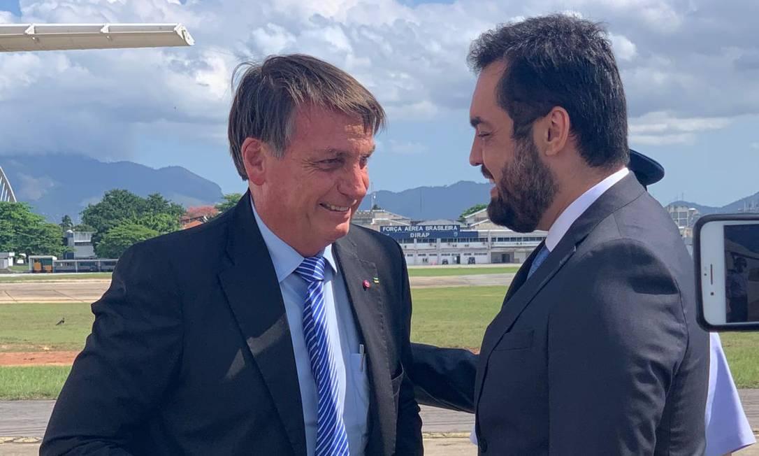 Jair Bolsonaro com Cláudio Castro Foto: Coluna Guilherme Amado/Agência O Globo