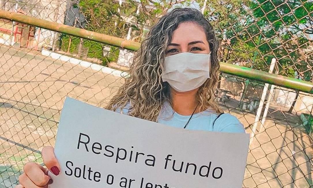 A psicóloga Jéssica Parmanhani faz campanha contra o suicídio Foto: Divulgação