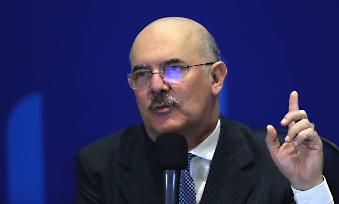 O ministro da Educação, Milton Ribeiro, em coletiva de imprensa em 15 de setembro na sede do Inep, em Brasília (DF) Foto: Jorge William / Agência O Globo