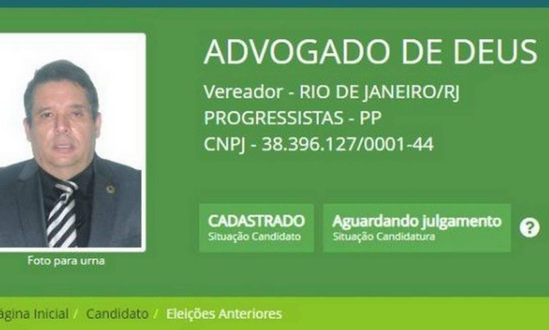 O pré-candidato a vereador do (PP) Aralton Nascimento Lima Junior, que se autointitula como 'Advogado de Deus'. Foto: Reprodução