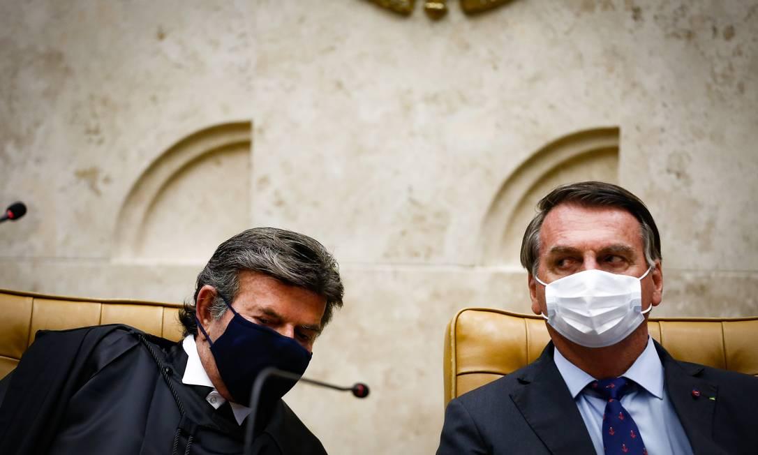Posse do ministro Luiz Fux como presidente de STF, com de Jair Bolsonaro Foto: Pablo Jacob / Agência O Globo