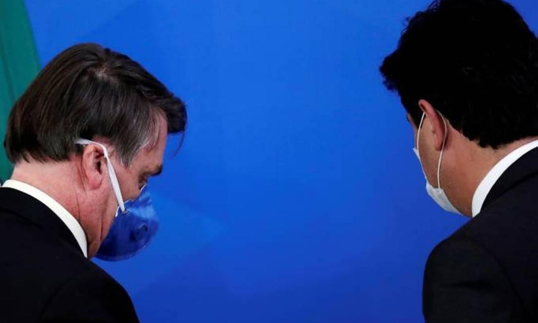 Bolsonaro e Mandetta Foto: Ueslei Marcelino / Reuters