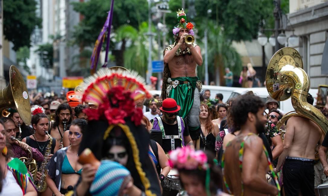 RI Rio de Janeiro (RJ) 05/01/2020 Blocos na Praça XV Roberto Moreyra / Agência O Globo Foto: Roberto Moreyra / Agência O Globo