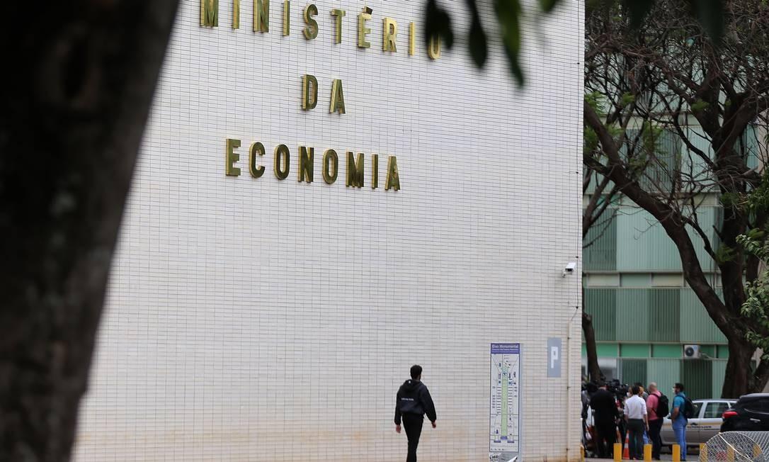 Fachada do Ministério da Economia, em Brasília Foto: Jorge William / Agência O Globo