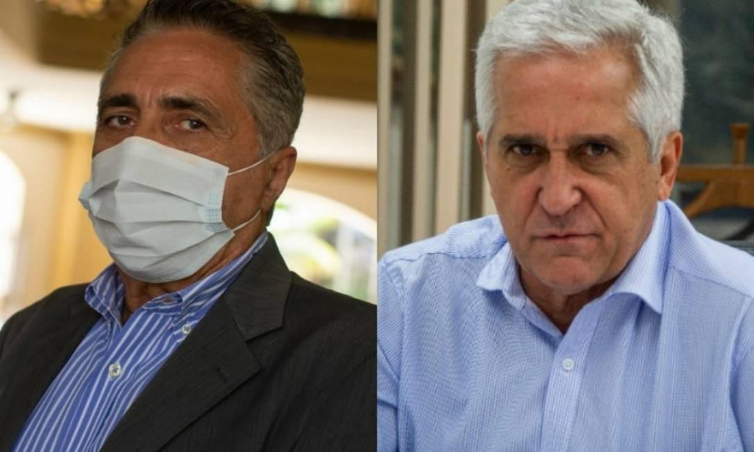 Os novos secretários da Saúde e da Educação nomeados por Cláudio Castro para o governo do Rio (25.09.20 e 07.09.19) Foto: Agência O Globo