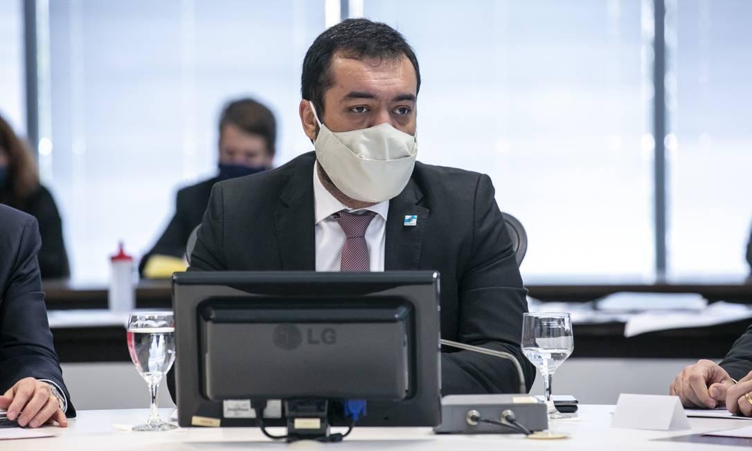 Investigado: o governador em exercício Cláudio Castro é alvo da PGR. Ele nega a acusação Foto: Rafael Campos / Divulgação