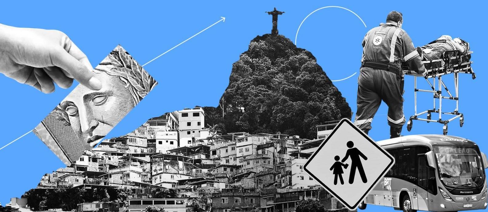 Uma inspiração aos candidatos à prefeitura: 50 propostas para o Rio Foto: Editoria de Arte