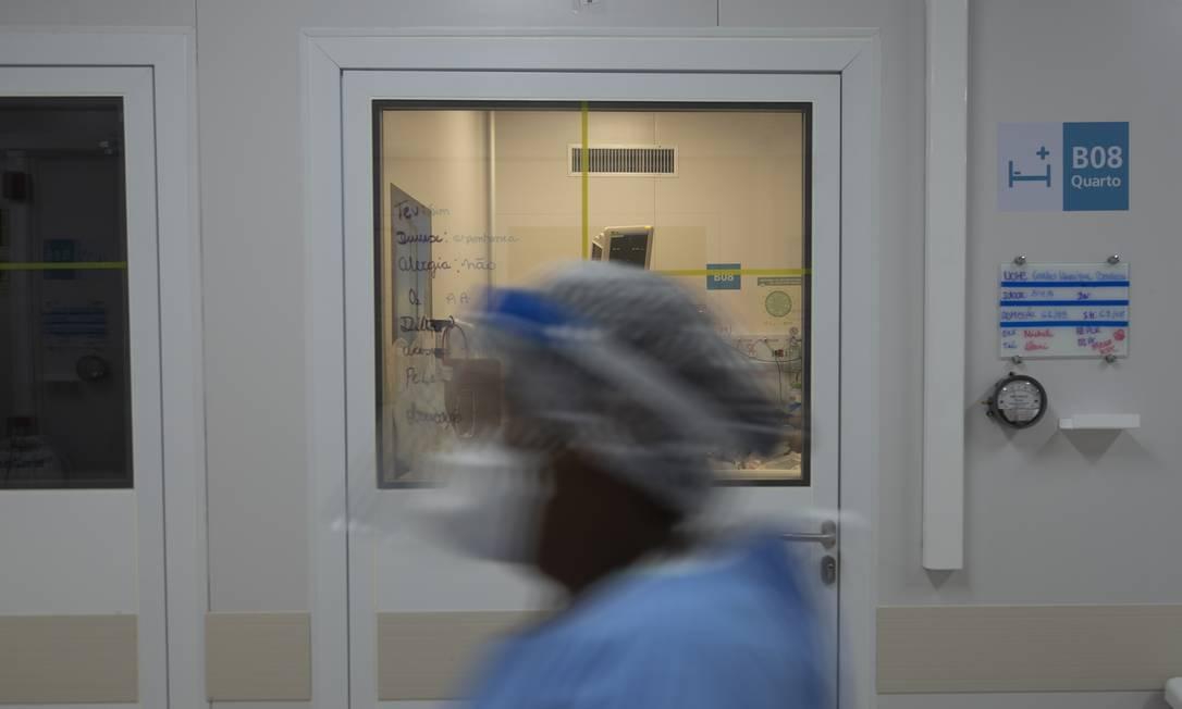 Centro hospitalar de Covid-19 no Instituto Nacional de Infectologia Evandro Chagas, na Fiocruz Foto: Gabriel Monteiro