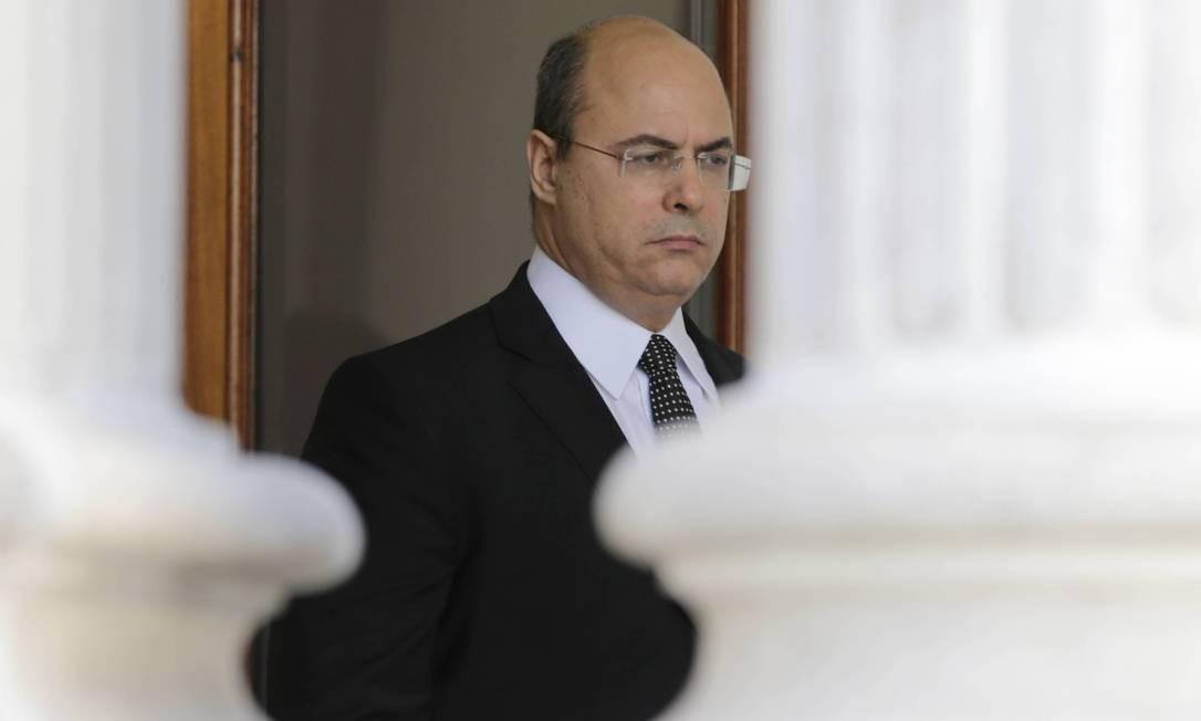 Mesmo afastado, Witzel tem direito de continuar morando no Palácio das Laranjeiras Foto: Domingos Peixoto / Agência O Globo