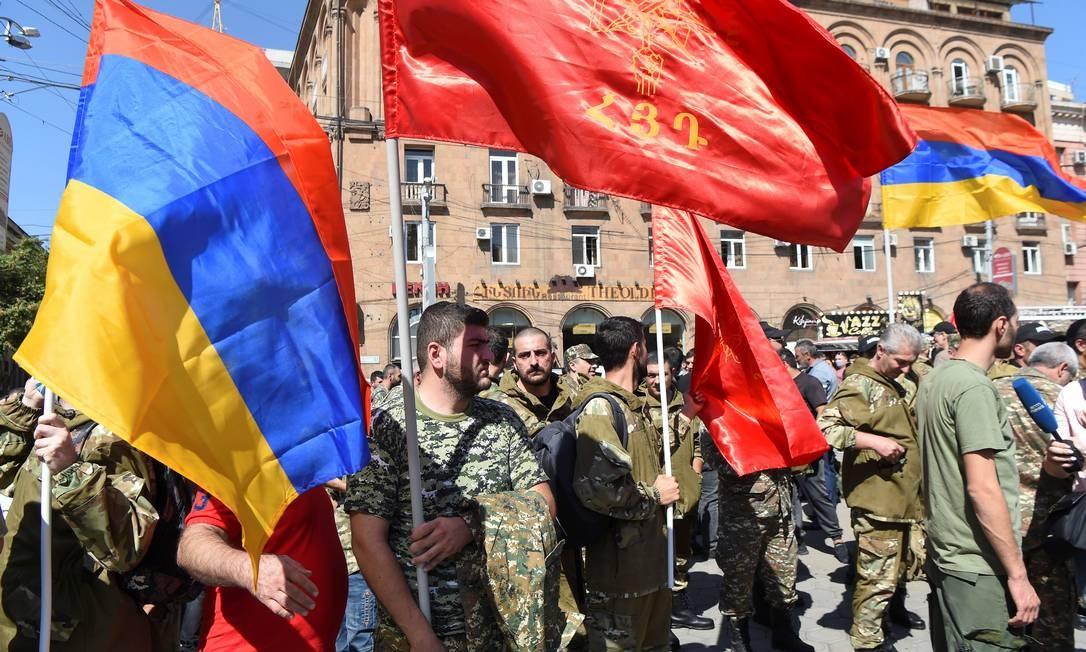 Armênia declara lei marcial e mobiliza sua população masculina após confrontos com o Azerbaijão Foto: MELIK BAGHDASARYAN / REUTERS/27-09-2020