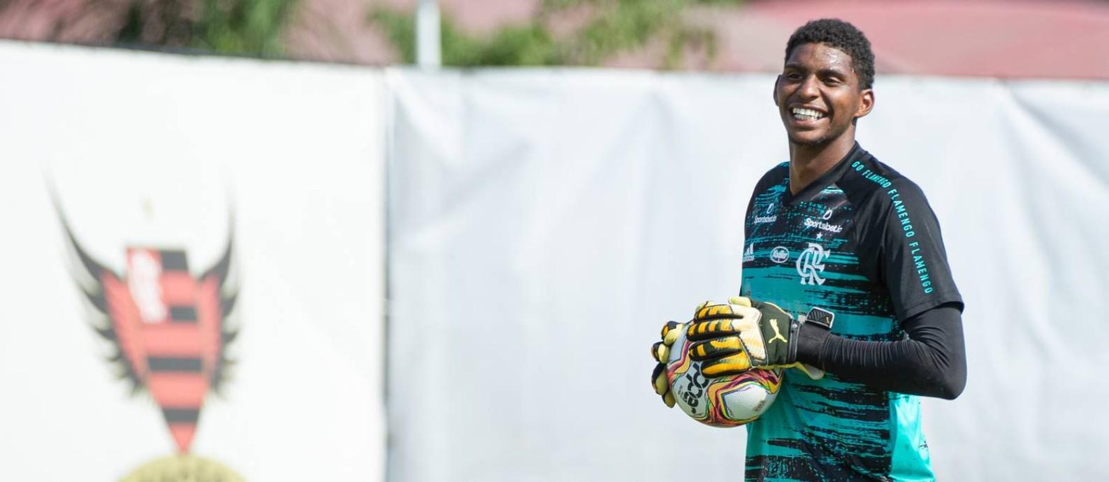 Hugo Souza, goleiro do Flamengo Foto: Alexandre Vidal / Flamengo