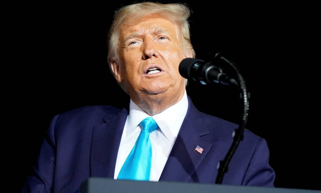 Presidente Donald Trump durante evento de campanha em Middletown, na Pensilvânia Foto: JOSHUA ROBERTS / REUTERS / 26-9-2020