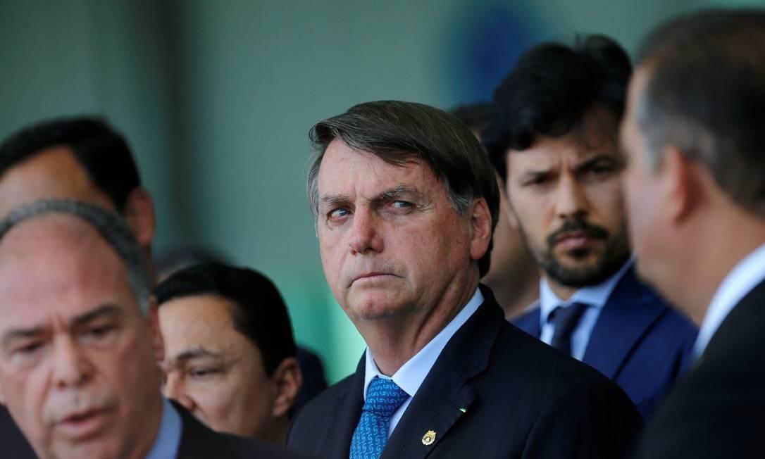 O presidente Jair Bolsonaro, após reunião com líderes no Palácio da Alvorada Foto: ADRIANO MACHADO / REUTERS