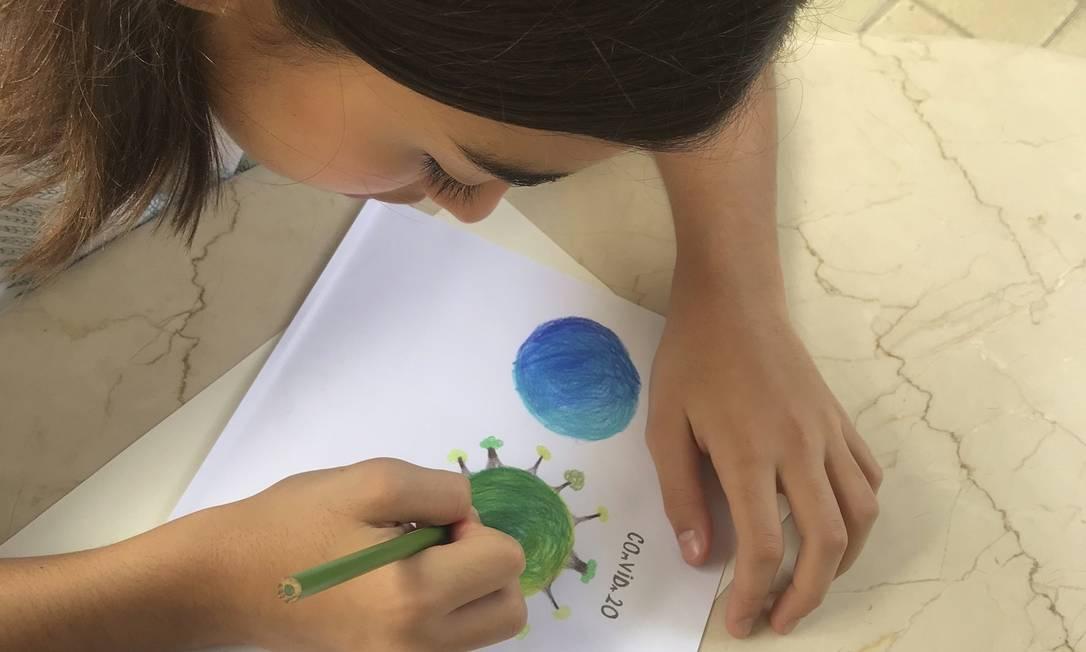 Manuela Oliveira e o desenho que contagiou o país Foto: Divulgação