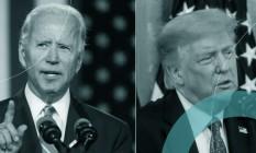 Trump e Biden participaram do primeiro debate na disputa pela Casa Branca Foto: Arte
