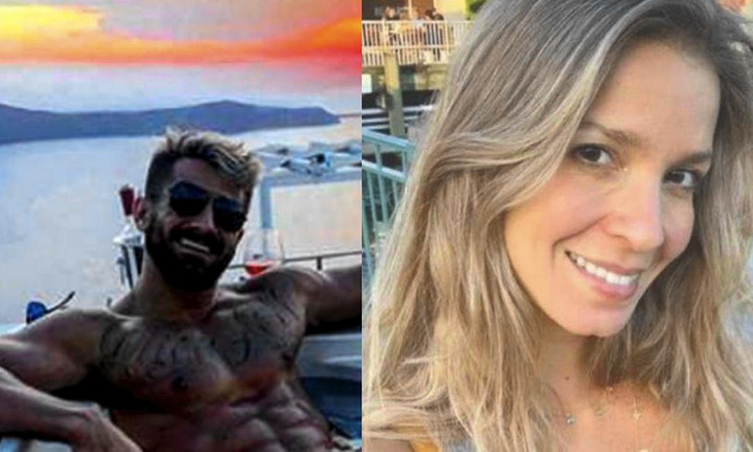 Wilton, à esquerda: confusões no Maracanã e na Marina. À direita, Aline: acusada de empurrar a antiga sogra Foto: Reprodução