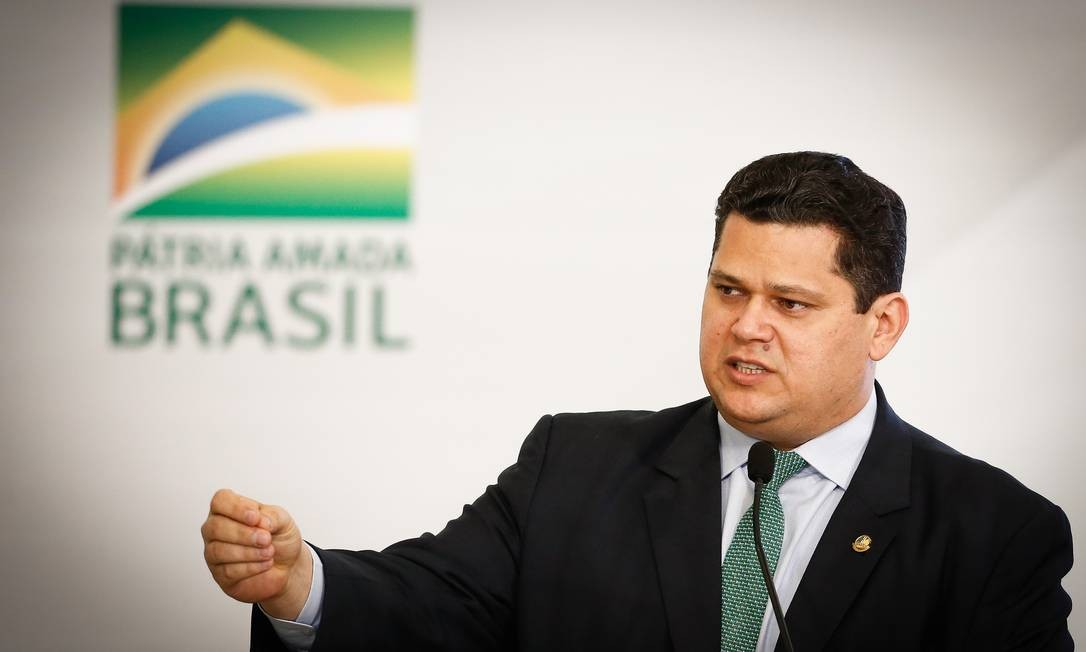 O presidente do Senado, Davi Alcolumbre (DEM-AP) Foto: Pablo Jacob / Agência O Globo