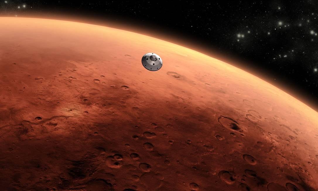 Cientistas descobriram lagos subterrâneos em Marte Foto: Nasa