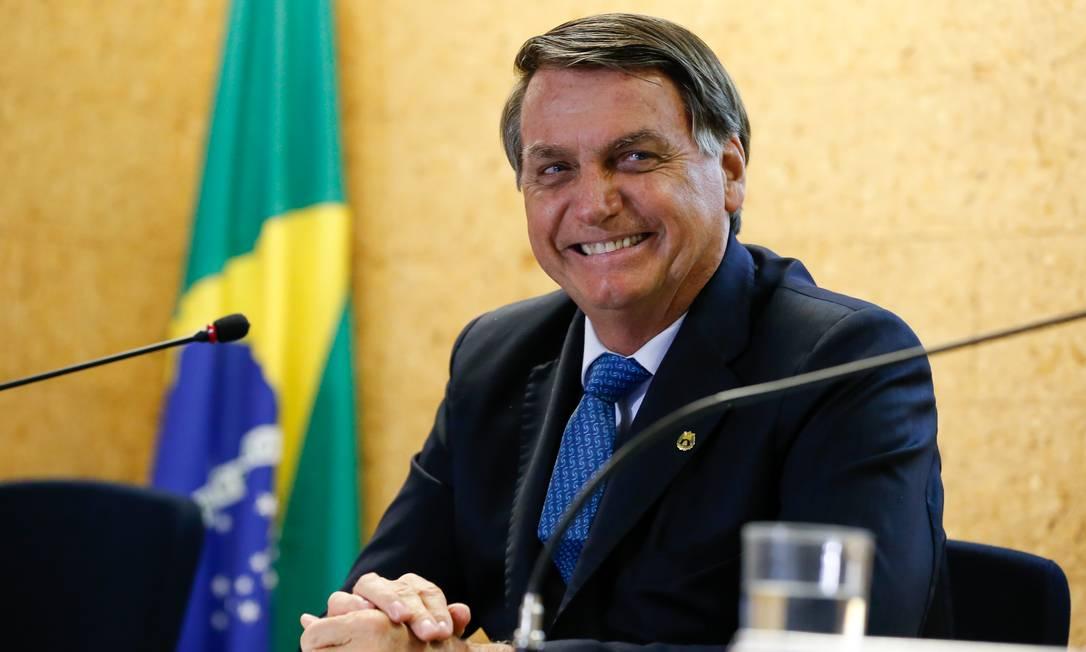 O presidente Jair Bolsonaro em solenidade em Brasília Foto: Carolina Antunes/PR