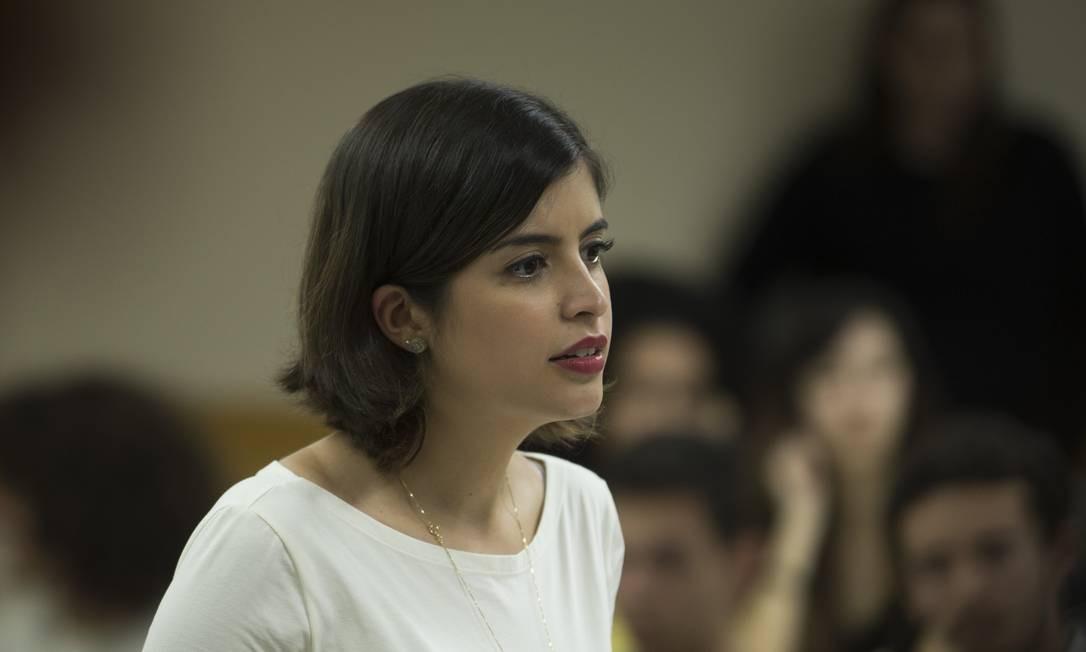 A deputada Tabata Amaral defende as reformas administrativa e tributária para bancar o projeto Foto: Guito Moreto / Agência O Globo