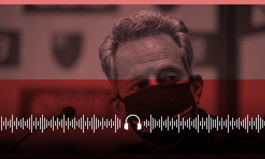 O presidente do Flamengo, Rodolfo Landim Foto: Arte sobre foto de divulgação