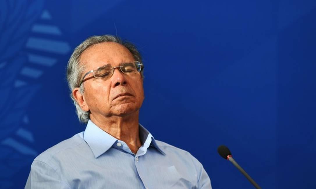 Paulo Guedes, ministro da Economia Foto: Evaristo Sá / AFP
