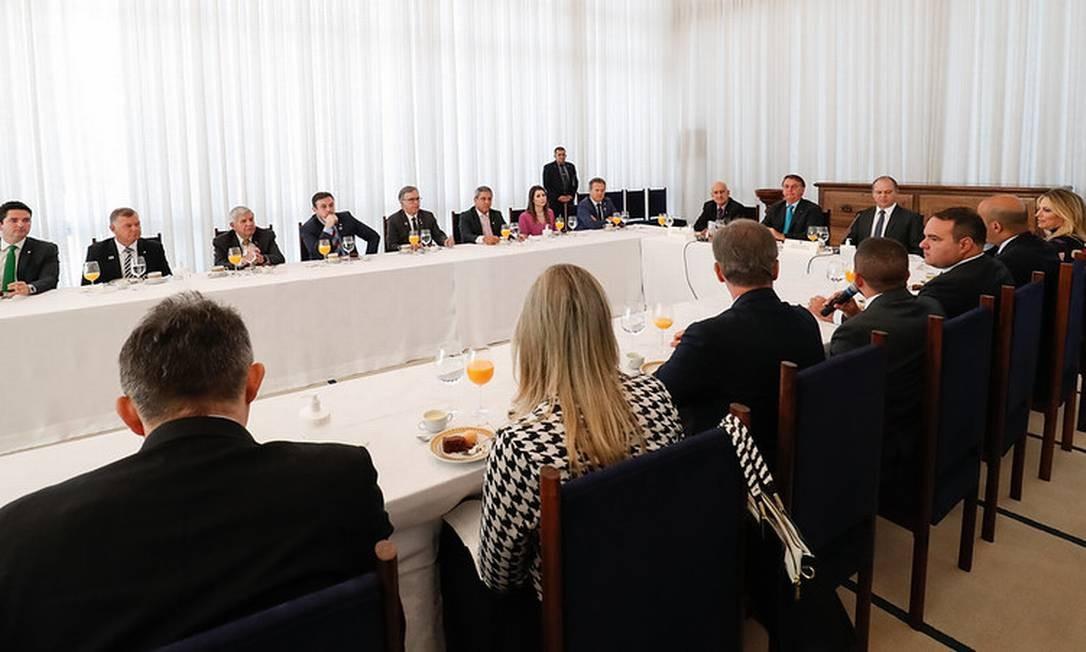 Bolsonaro promove café-da-manhã nesta quarta-feira com novos vice-líderes Foto: Alan Santos / PR