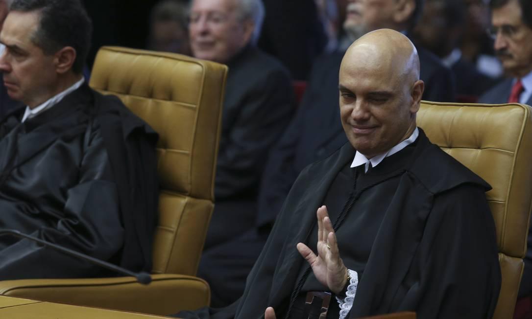 Alexandre Moraes foi indicado por Michel Temer depois da morte de Teori Zavascki, vítima de um acidente aéreo ocorrido em 19 de janeiro de 2017 Foto: Ailton de Freitas / Agência O Globo