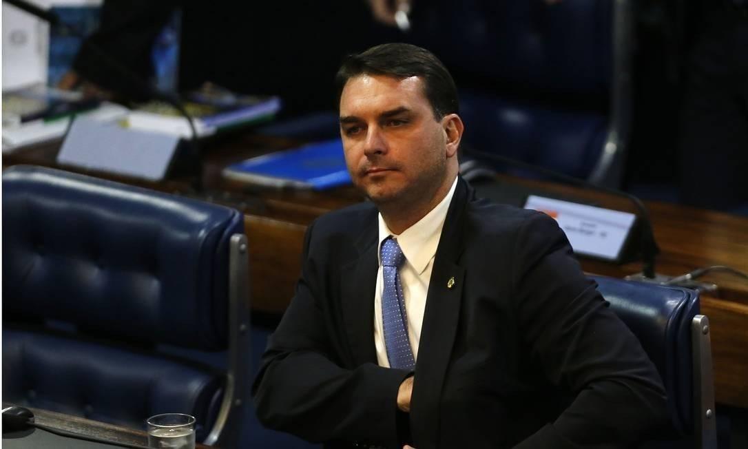 Senador Flávio Bolsonaro Foto: Jorge William / Agência O Globo