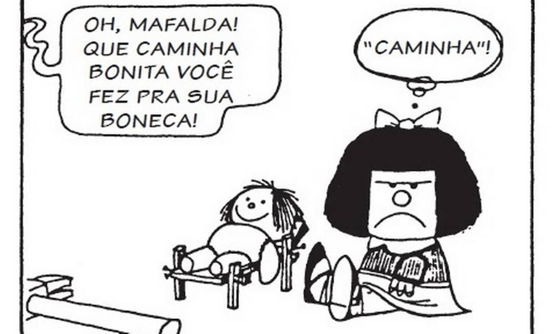 Mafalda, a personagem contestadora criada pelo argentino Quino Foto: Quino / Reprodução