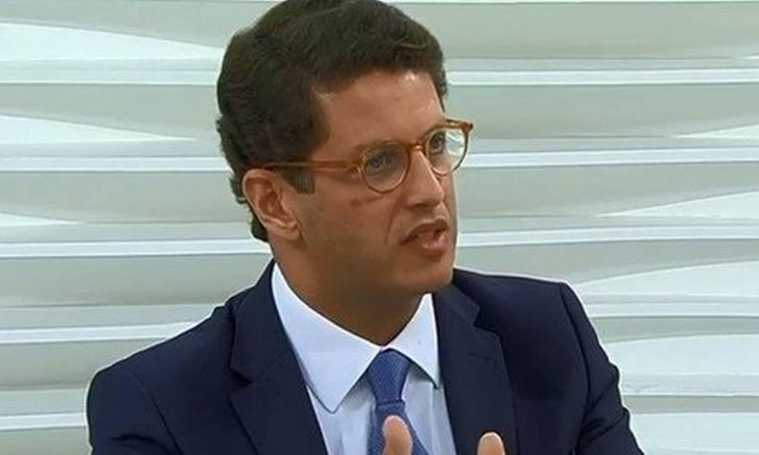O ministro Ricardo Salles Foto: Reprodução
