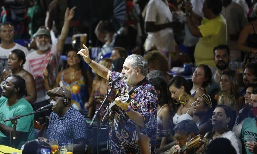 O músico Moacyr Luz e o Samba do Trabalhador: rodas de samba permanecem proibidas no Rio Foto: Marluci Martins - 10.03.2020 / Divugação