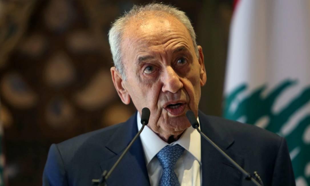 Presidente do Parlamento libanês Nabih Berri Foto: AZIZ TAHER / REUTERS