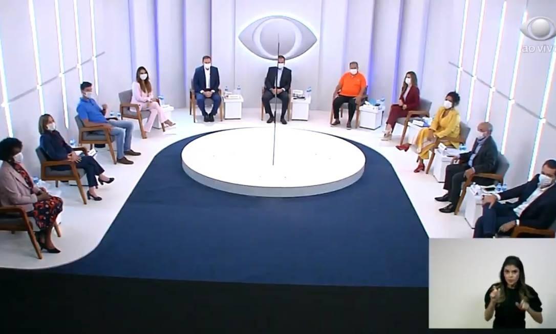 Debate reuniu 11 candidatos à prefeitura do Rio na noite desta quinta-feira, na Band Foto: Reprodução/TV