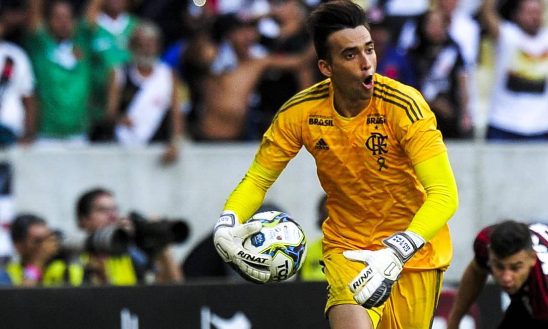 César, do Flamengo. Goleiro teve atuação como titular em vários jogos do time Foto: Alexandre Vidal / Flamengo