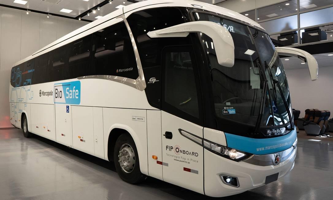 A Marcopolo, de ônibus, vai fechar a fábrica de Duque de Caxias, no Estado do Rio, em 30 de outubro Foto: Divulgação/8-9-2020