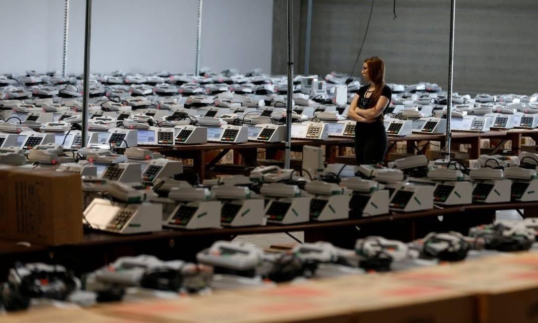 Urnas eletrônicas Foto: RODOLFO BUHRER/Reuters