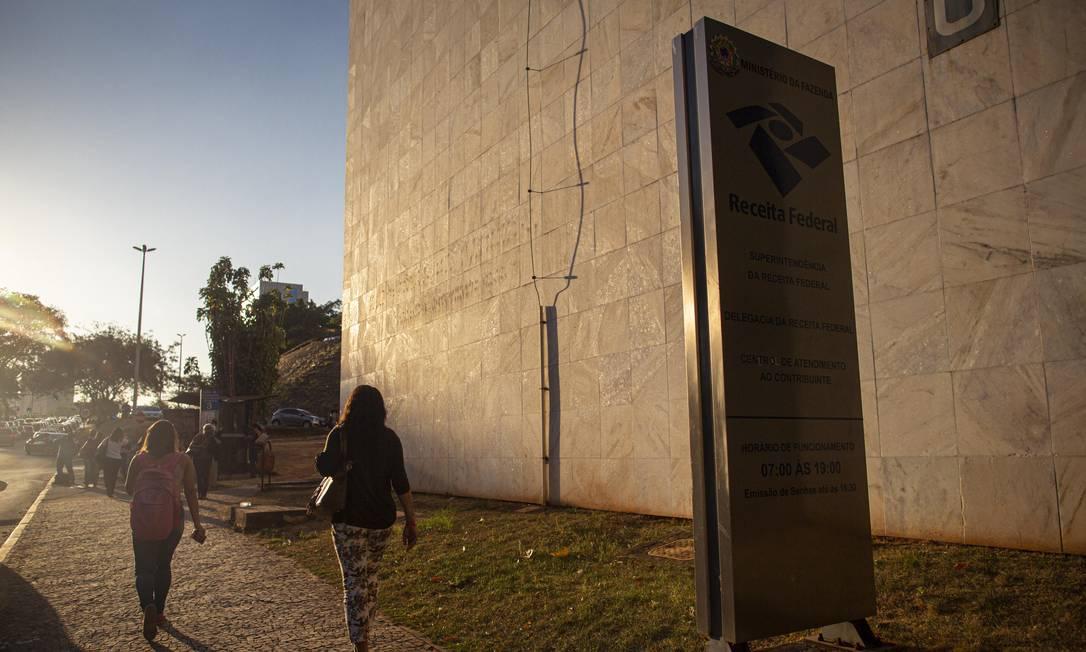 Fachada da Receita Federal em Brasília Foto: Daniel Marenco/Agência O Globo/13-09-2019