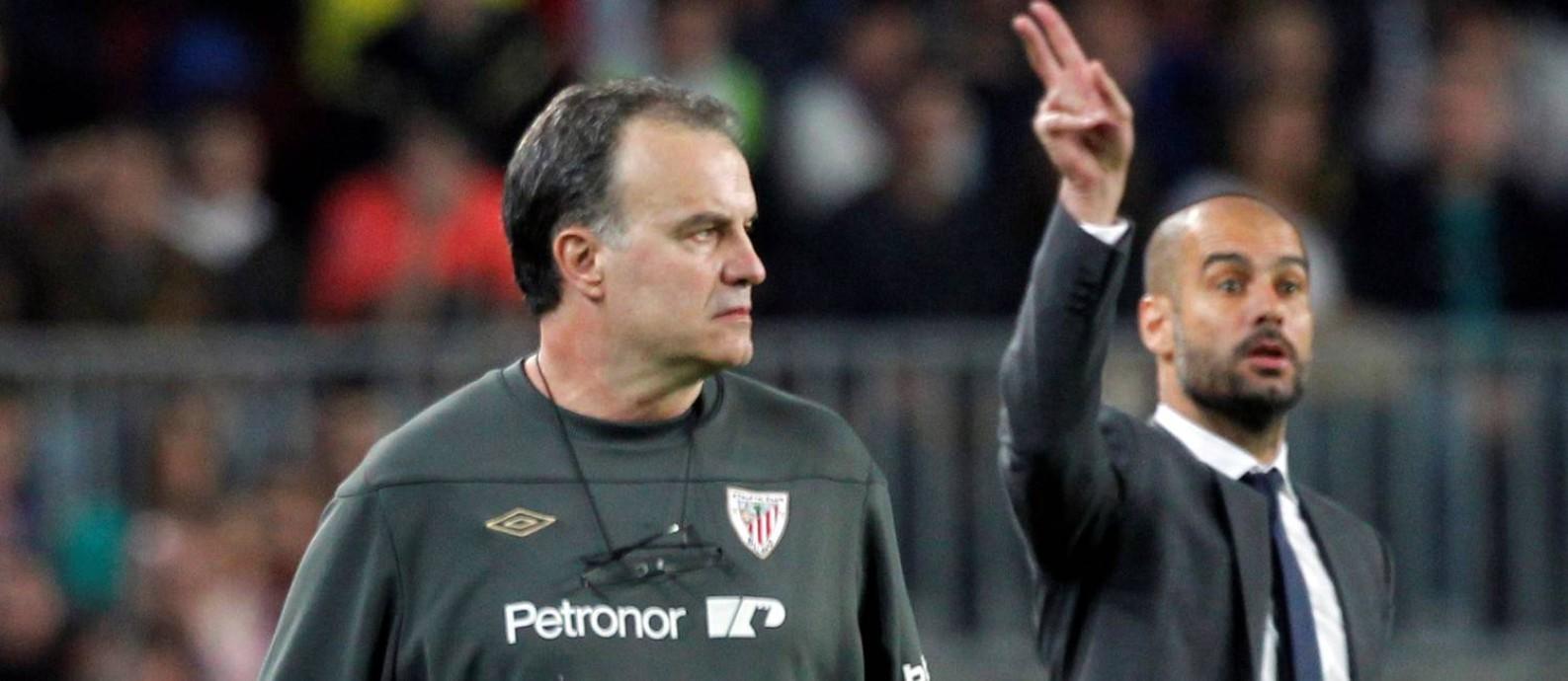 Bielsa x Guardiola: mestre e discípulo se encontram neste sábado no  Campeonato Inglês - Jornal O Globo