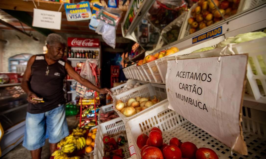 Criada em 2013, Mumbuca chega hoje a 40 mil famílias e salvou a cidade e a renda das famílias de uma crise mais severa durante a pandemia Foto: Brenno Carvalho / Agência O Globo