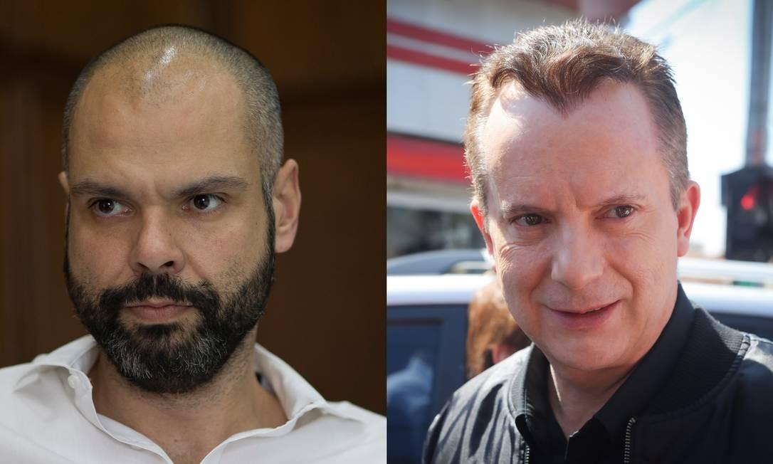 Bruno Covas (PSDB) e Celso Russomanno (Republicanos), candidatos a prefeito em São Paulo Foto: Agência O Globo