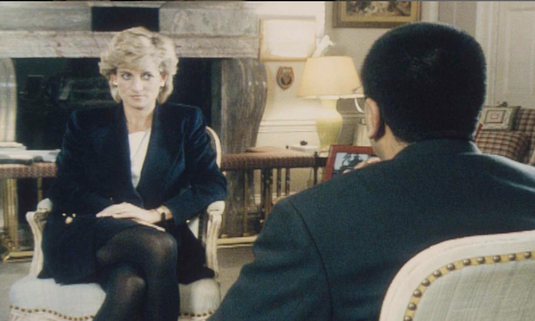Diana em entrevista ao programa Panorama, em 1995 Foto: Getty