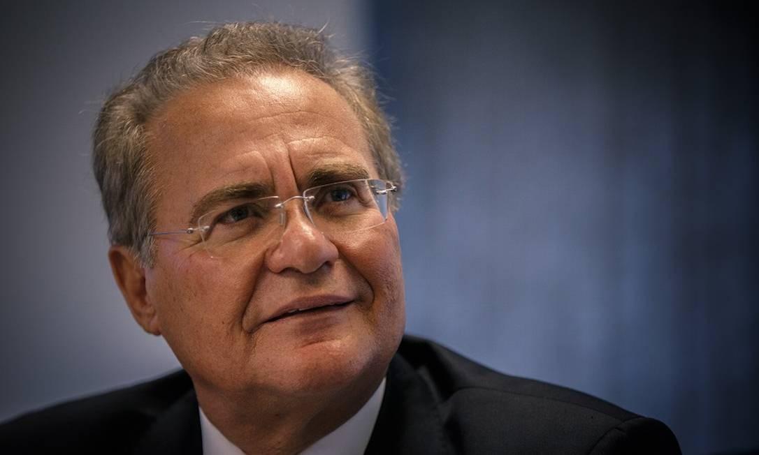 Renan Calheiros: defesa de corte de gastos e aumento de tributos. Foto: Daniel Marenco / Agência O Globo