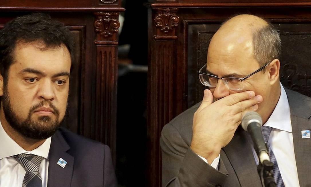 Castro e Witzel consideram-se legalmente impedidos de se falar Foto: Marcelo Theobald / Agencia O Globo